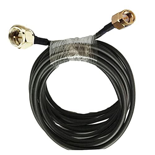 Keep it simple Ajuste for 1/2/3 / 5m 10/15/20 / 30m 50-3 RG58 Cable coaxial f Macho a SMA Conector de ángulo Recto Masculino RF Adaptador Cable coaxial 50ohm (Color : 3m)