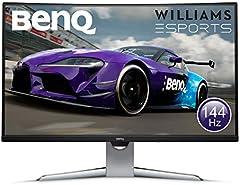"""BenQ EX3203R - Monitor Curvo Gaming de 31.5"""" (QHD 2K, 144 Hz, HDR, FreeSync 2, Sensor B.I, HDMI, Display Port, USB-C) Color Negro y Gris"""