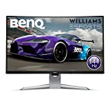 BenQ EX3203R 32 Pollici QHD 2K HDR 144 Hz Curved Gaming Monitor, 1800R, FreeSync 2.0, HDR, B.I. Sensor, HDMI, Display Port, USB-C, Grigio