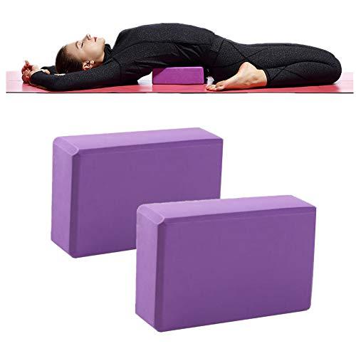 GuangLiu Yoga Bloque Ladrillo De Yoga De Espuma Pilates la Cabeza de Yoga Kit de iniciación Bloque de Yoga Conjunto Bloque de Yoga de Espuma Purple,2pcs