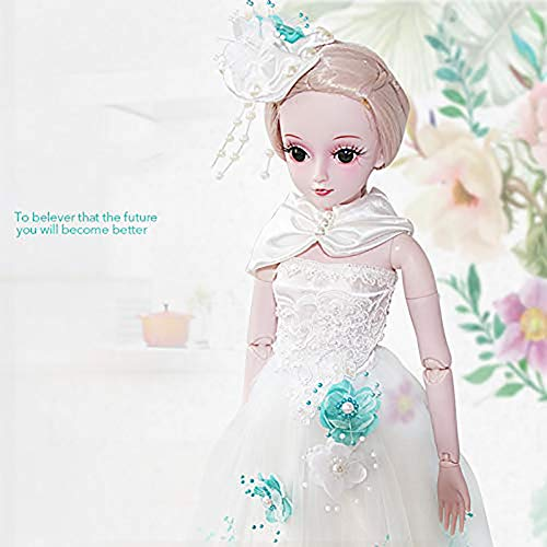 Handgefertigt Reborn Baby Puppe,Nettes Mädchensimulationskleid-Hochzeitsprinzessinset, Weihnachtsgeburtstagsgeschenkspielzeug, 60cm / 23.6 Zoll