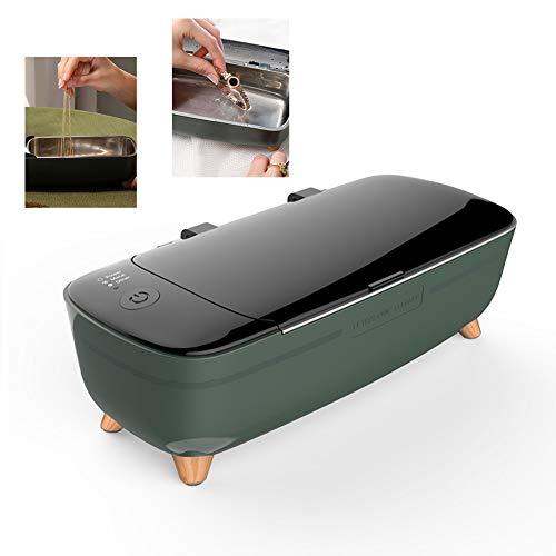 Dr.Lefran Ultraschall-Schmuck-Reiniger, 12V tragbarer Mini-Ultraschall-Reiniger 400ml Ultraschall-Reinigungsgerät für Schmuck Glas Razor Körperpflege Werkzeuge