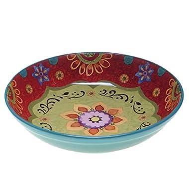 Certified International 22467 Tunisian Sunset Serving/Pasta Bowl, 13.25  x 3 , Multicolor