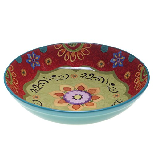 "Certified International 22467 Tunisian Sunset Serving/Pasta Bowl, 13.25"" x 3"", Multicolor"