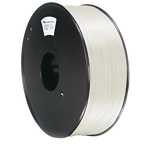 Surreal Pure ABS 3D Printer Filament 1.75mm - 1KG spool, White