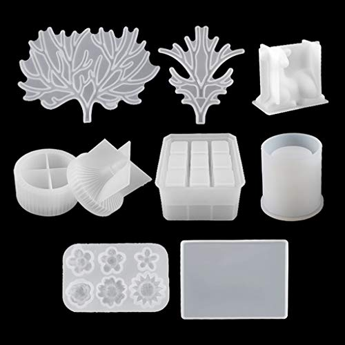 Diveimai Deer Makeup Jewelry Display Tray Molds Kit Lipstick Organizer Pen Holder Molds Candy Molds for Chocolate Gummy Ice Cube Jelly Truffles Pralines Caramels Ganache