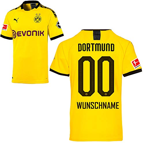 PUMA Borussia Dortmund BVB Heimtrikot 2019/20 Home Trikot Sponsor BL Logo Herren Wunschname Gr M