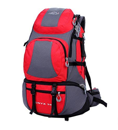 LOCAL LION, zaino funzionale da 38 l, per sport all'aria aperta, escursionismo, campeggio, avventura, arrampicata, attività, Rosso, 55*18*35cm