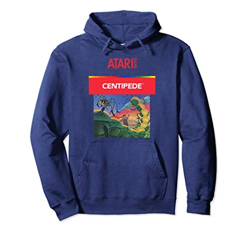 Official Adults Atari Centipede Box Art Hoodie, 4 Colors, S to 2XL