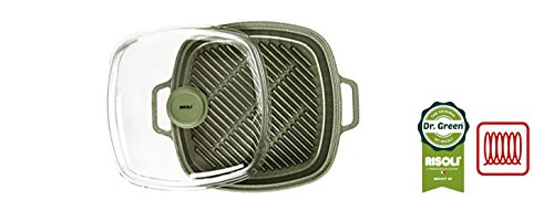 Risoli VaporGrill 26X26 Dr. Green® Extra Induction Con Coperchio Made In Italy