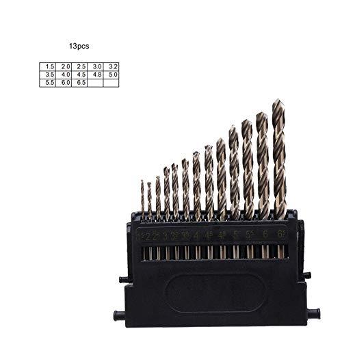 LONGWDS bit de Broca M42 HSS-Co Fresa Espiral bit Set 3 Borde Cabeza 8% de Cobalto de Alta Broca de dureza 68-70 HRC for el Acero Inoxidable Madera Metal Perforación Herramientas de carpintería