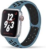 VIKATech Compatible Cinturino per Apple Watch Cinturino 44mm 42mm, Due Colori Morbido Silicone Traspirante Cinturini Sportiva di...