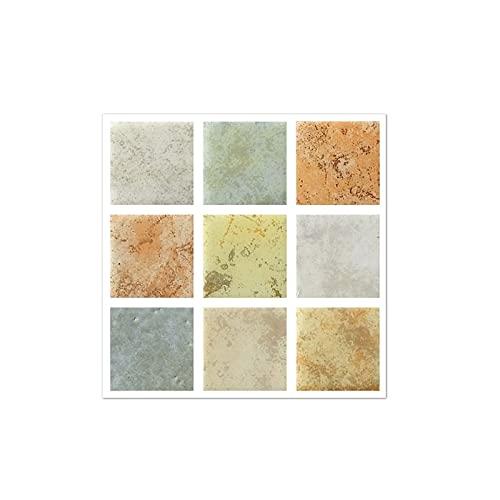 QOXEFPJZ Cenefa Adhesiva Cocina 10 unids Azulejo Autoadhesivo 3D Mosaico Mosaico Pegatinas Cocina Baño Pegatinas de Pared Decoración Arte Vinilo Calcomanía Mural Decoración del hogar-10 * 10cm