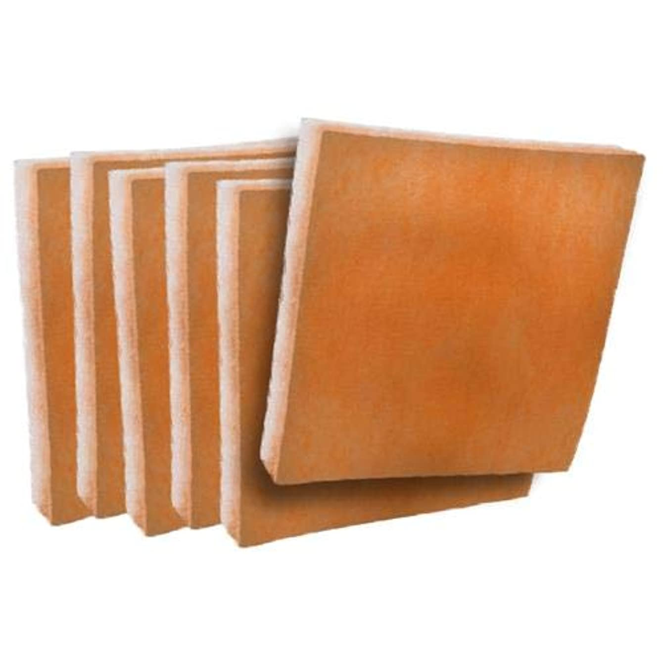 Orange/White Tackified MERV 8 Replacement Air Filter Media Pad Inserts - 17-1/2