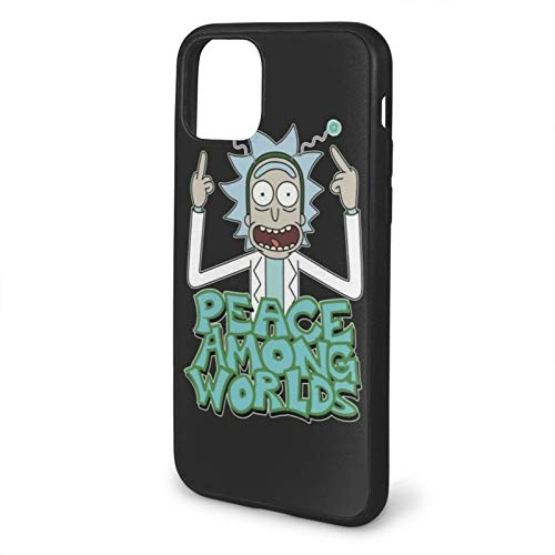 GBEBFA Morty Rick Peace Among Worlds Compatible with iPhone 12/12 Pro Max Mini 6/6s plus 7/8 Plus/SE 2020 X/XS XR 11 Pro Max Phone Cases Cover-Black