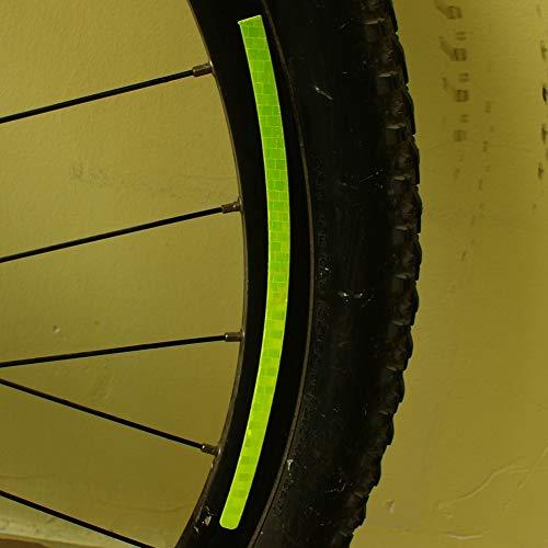 Weikeya Etiqueta engomada de la Rueda de Bicicleta, 1 Pieza. Etiqueta engomada Reflectante para Rueda de Bicicleta