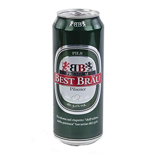 Sicilia Bedda - Birra Best Brau Premium Pilsener - 12 Lattine da 500ml - 5% vol - Birra Fresca e Dissetante