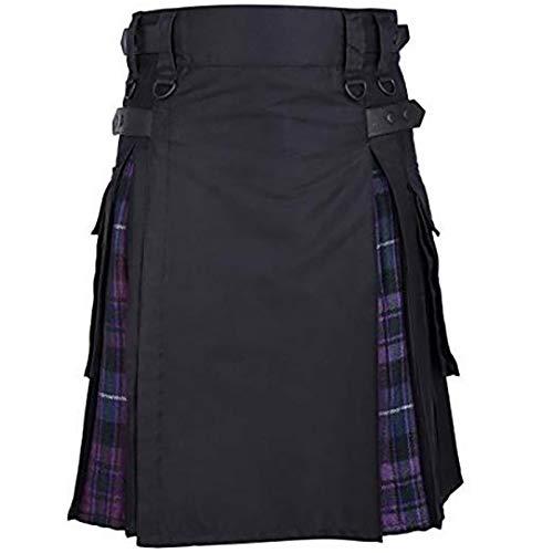 Kilt Rock Schottischer Herren Tartan Kilt Traditioneller Hochlandhochzeits-Abendrock Für Männer M Purpleskirt