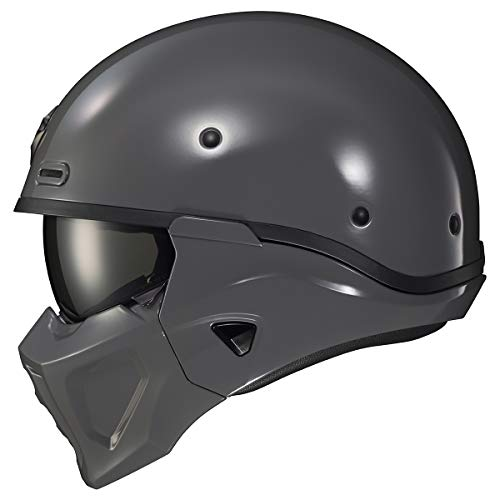Scorpion Covert X Solid Adult Street Motorcycle Helmet - Cement Grey/Large