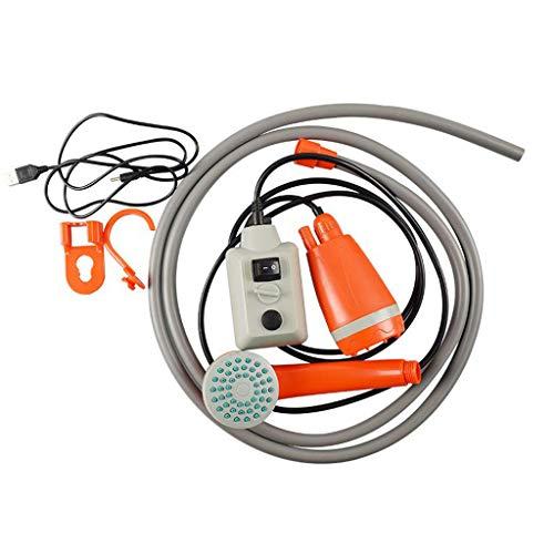 NIVC Bomba de Ducha portátil para Exteriores, Impermeable, Multiusos, Cabezal de Ducha para Camping, Bomba de energía Recargable USB para la Familia