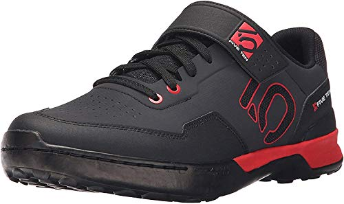 Five Ten Men's Kestrel Lace Mountain Bike Shoes (Clipless, Black/Red, 4)