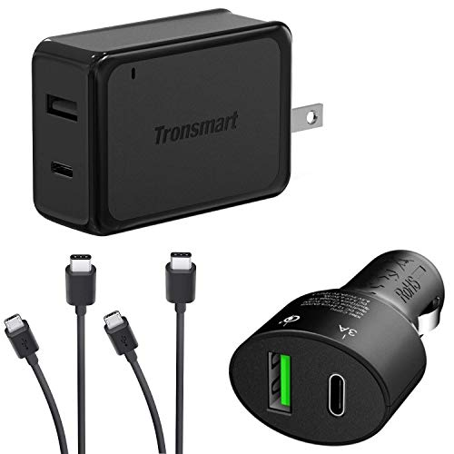 Turbo Quick Wall and Car Charger Kit for Lenovo K3 Note with MicroUSB & USB Type-C Cables! (33Watts)