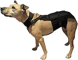 Dog Diaper Wrap MEDIUM (LONG) BLACK