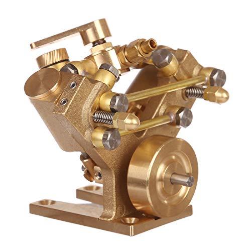 PeleusTech Steam Engine Model Mini Pure Copper Steam Engine Model Without Boiler Creative Gift Set