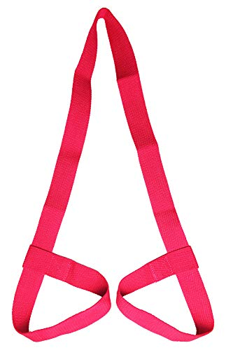 Riarbronee Yoga Mat Carrying Strap SlingAdjustable Loops for all Mat SizesMat not included Red