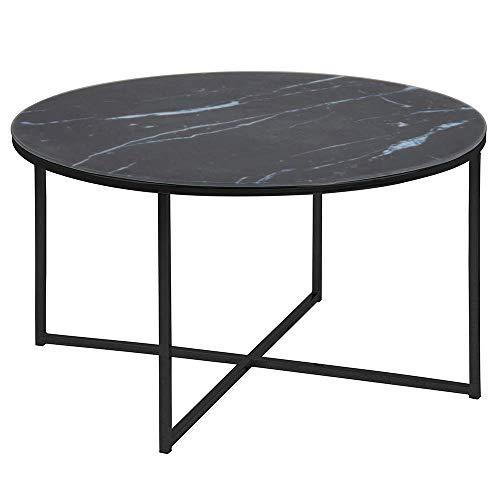 Amazon Brand - Movian Rom Couchtisch, 80 x 80 x 45 cm, Schwarz