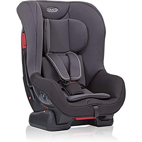 Graco Extend Reboarder Kindersitz Gruppe 0+/1, Autositz rückwärtsgerichtet ab Geburt bis ca. 4 Jahre (0-18 kg), ab ca. 9 Monaten (9-18 kg) auch in Fahrtrichtung, Seitenaufprallschutz, Black/Grey