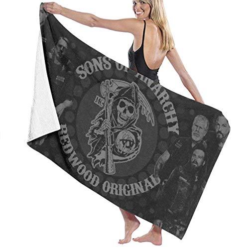 Sons of Anarchy Mikrofaser-Strandtuch, tragbares Reisetuch, schnell trocknende leichte Körperbadehandtücher, Duschstranddecke Sandfreies Handtuch