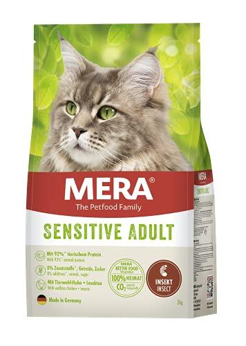 MERA The Petfood Family Cats Sensitive Adult Insect - Trockenfutter für sensible Katzen - getreidefrei & nachhaltig - Katzentrockenfutter mit hohem Fleischanteil, 2 kg