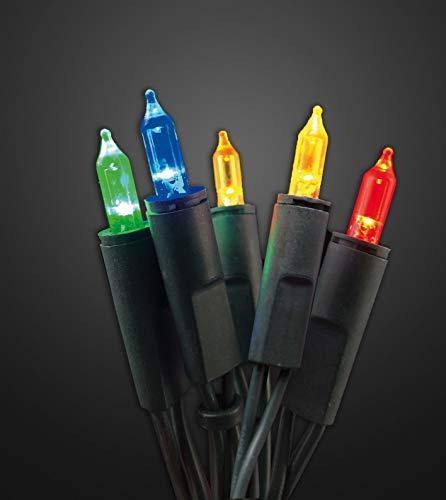 Hellum 577709 - Guirnalda de luces (100 ledes, 17,85 m, para interiores, cable de 2 x 1,5 m), color verde