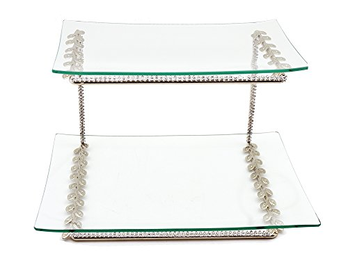 Three Star RS2660 Tiered Serving Platters Clear