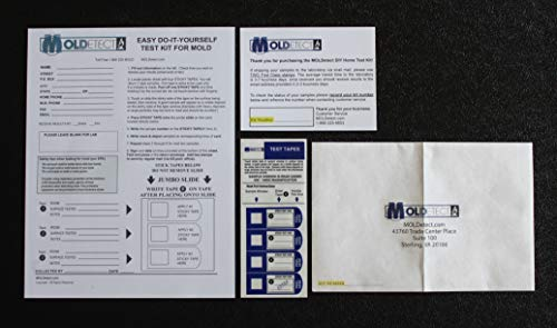 MOLDetect - 3 Sample Mold Test Kit W/ AIHA Accredited Lab Analysis