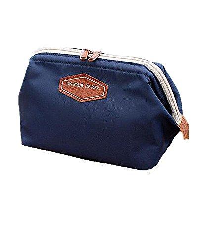 SAMGU Fashion Sac de Toilette Voyage Make Up cosmétiques Sac Pochette Bourse d'embrayage Sac à Main Couleur Navy Bleu