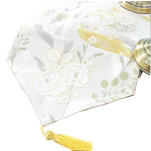 Tuintafel Vlag Satijn Mode Eenvoudige Noordse Koffie Bed Bruiloft Hotel Banket Decoratie 2 Kleur 30cm*140cm MUMUJIN