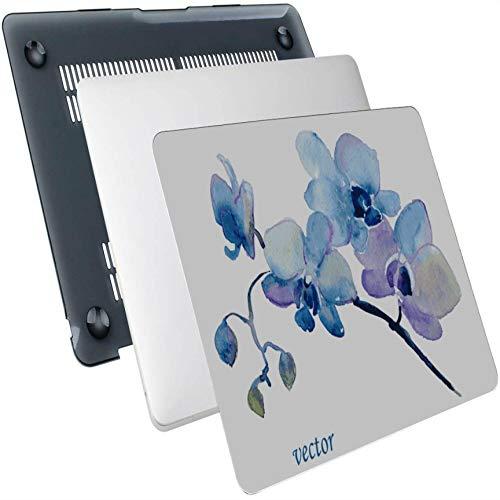 Funda Macbook Pro Flores Rosa Orquídea Acuarela Plástico Carcasa rígida Compatible Mac Air 13'Pro 13' / 16'Macbook Pro 15 Pulgadas Funda Protectora para Macbook 2016-2020 Versión