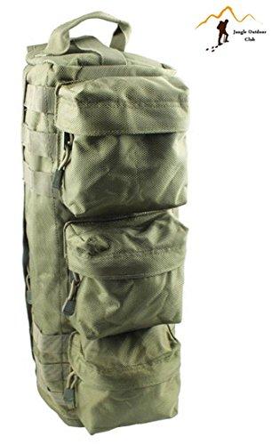 Petit sac à dos Jungle Oxford imperméable pour escalade et escalade - Sac à bandoulière de voyage - Poches tactiques Molle - Sac à dos de randonnée - Vert kaki