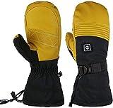 Guantes Calefactores Calentar los guantes de los guantes calefactables for hombres y mujeres de esquí de la motocicleta eléctrica de nieve manopla 7.4V 2200mAh cálido invierno guantes de ciclo al aire