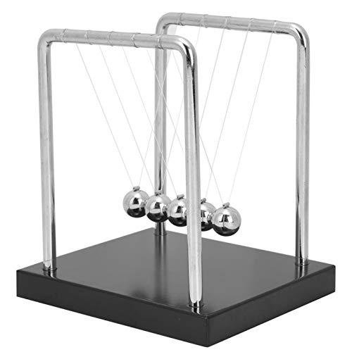 DAUERHAFT Wooden Base Newton's Cradle Balance Balls Pendulum Desk,Kids...