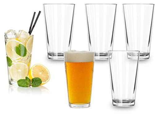 Beer Pint Glasses (16 Ounce) – Set Of 6