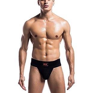 YiZYiF Men's Soft Athletic Supporter Classic-Style Sport Underwear Jockstrap #3 Classic Plain Black Medium (Waistline 30.0-43.0):Tudosobrediabetes