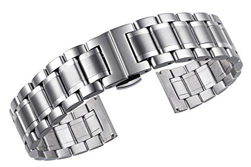 AUTULET ostrica cinturini per orologi in metallo 22mm degli uomini sia con...