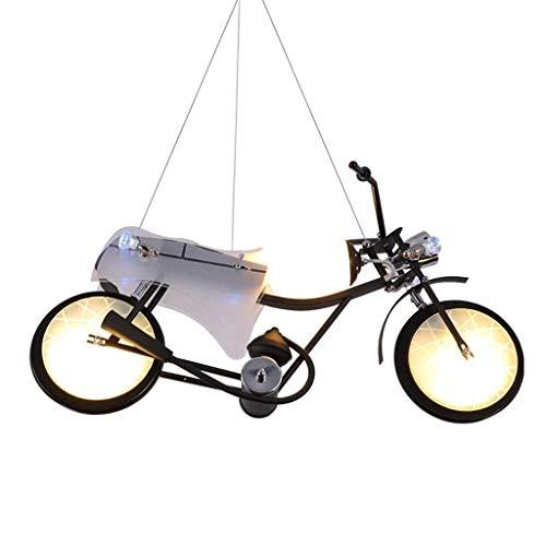 PXY Mmodern Minimalist Lampadario a 2 Teste Lampadario Moto Lampadario per Bambini Decorazione Del Ragazzo Lampada Camera da Letto Negozio Di Abbigliamento Sala da Pranzo Camera Lampadario E14 Lampad