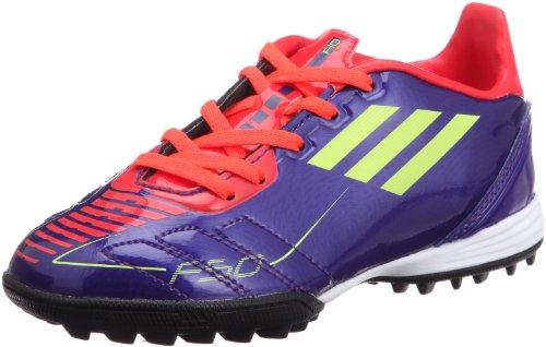adidas F10 TRX TF J G40280 Base Ball Scarpe, Viola/Arancione/Verde Fluo