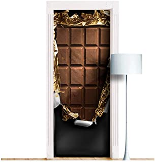 Chocolate Choco bar Door Mural - Peel & Stick Removable Decole, Skin, Wrap, Decal, Cover, Poster. All Sizes! (Sticker, 36