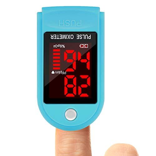 Pulsoximeter, Oxymeter Fingerpulsoxymeter Pulse Oximeter Finger für Erwachsene und Kinder mit OLED-Display
