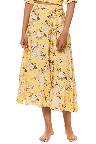 Faithfull The Brand Women's Asiya Midi-Skirt Swim Cover Up Pomeline Floral Print L
